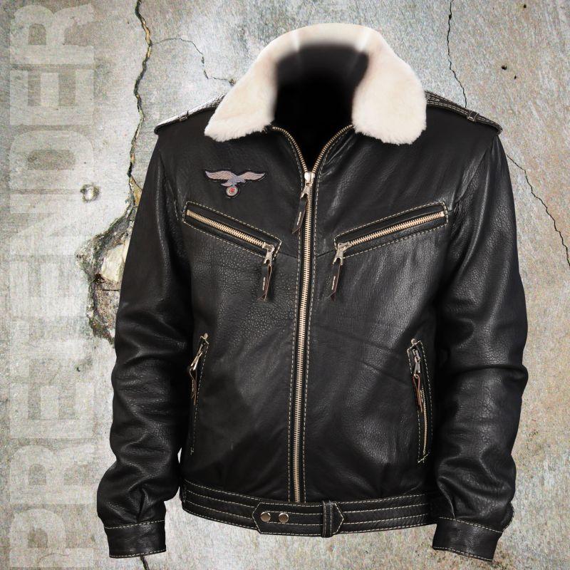 5195cb0e Мужская кожаная куртка «Люфтваффе - чёрная» - купить в москве